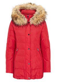 Czerwona kurtka SAKI elegancka, na zimę
