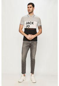 Szara koszulka polo Jack & Jones gładkie, polo