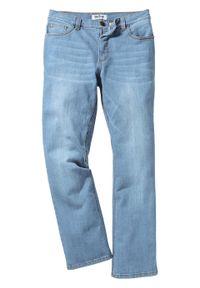 Dżinsy ze stretchem Slim Fit Bootcut bonprix jasnoniebieski denim. Kolor: niebieski