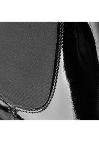 Czarne botki Loretta Vitale z cholewką, na obcasie, eleganckie, gładkie