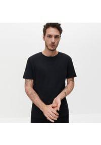 Reserved - Bawełniana koszulka basic - Czarny. Kolor: czarny. Materiał: bawełna #1