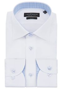 Biała koszula Lancerto elegancka, z haftami