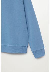Niebieska bluza Mango Kids raglanowy rękaw, casualowa, bez kaptura