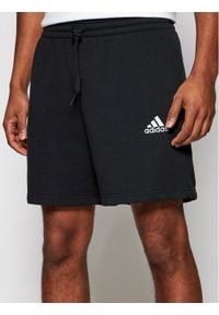 Adidas - adidas Szorty sportowe Essentials GK9600 Czarny Regular Fit. Kolor: czarny