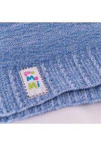 PaMaMi - Wiosenna czapka dziecięca. Kolor: niebieski. Materiał: bawełna, elastan. Sezon: wiosna