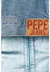 Niebieska kurtka Pepe Jeans na co dzień, bez kaptura, casualowa