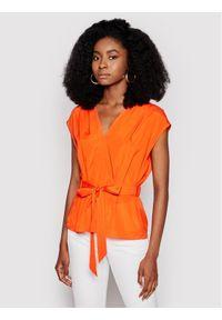 DKNY Bluzka P0EA6FZA Pomarańczowy Regular Fit. Kolor: pomarańczowy