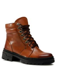 Brązowe buty trekkingowe Baldaccini z cholewką