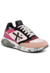 Różowe buty sportowe Premiata z cholewką