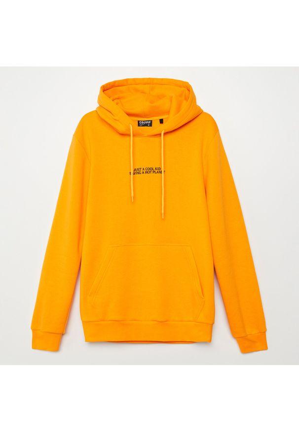 Żółta bluza Cropp z haftami