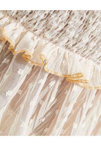 CHIO - Sukienka mini z koronką. Kolor: beżowy. Materiał: koronka. Długość rękawa: na ramiączkach. Wzór: koronka. Długość: mini