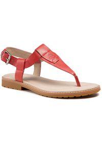 Czerwone sandały Timberland casualowe, na co dzień