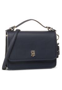 Niebieska torebka klasyczna TOMMY HILFIGER klasyczna