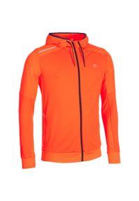 KALENJI - Kurtka do lekkoatletyki Warm-Up męska pomarańczowa. Kolor: pomarańczowy, czerwony, wielokolorowy. Materiał: materiał, poliester