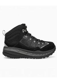 Ugg - UGG - Czarne sneakersy CA805 HIKER WEATHER. Kolor: czarny. Materiał: zamsz, wełna, materiał. Sezon: zima, jesień