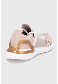 Adidas by Stella McCartney - adidas by Stella McCartney - Buty UltraBoost 20 Mettalic. Okazja: na plażę. Zapięcie: sznurówki. Kolor: beżowy. Materiał: materiał, guma. Model: Adidas Stella McCartney