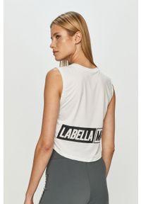 Biała bluzka LABELLAMAFIA z nadrukiem, casualowa