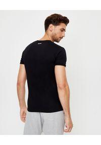 DSQUARED2 - Bawełniane koszulki (3-pack). Okazja: na co dzień. Typ kołnierza: kaptur. Kolor: czarny. Materiał: bawełna. Wzór: aplikacja. Styl: casual