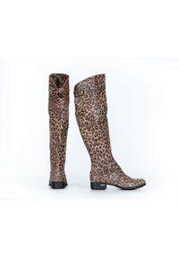 Kozaki Zapato eleganckie, wąskie, na co dzień, z cholewką za kolano