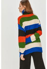 Wielokolorowy sweter Answear Lab z golfem, z długim rękawem, wakacyjny