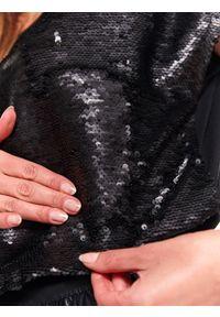 Czarna bluzka TOP SECRET na imprezę, bez rękawów