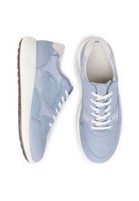 Niebieskie sneakersy ecco z cholewką, na co dzień