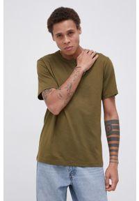 Champion - T-shirt bawełniany. Okazja: na co dzień. Kolor: zielony. Materiał: bawełna. Wzór: gładki. Styl: casual