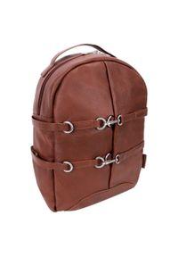 Brązowy plecak MCKLEIN elegancki, w paski