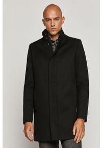 Czarny płaszcz medicine na co dzień, bez kaptura, casualowy