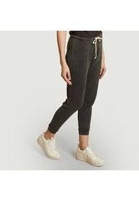 AMERICAN VINTAGE - Szare bawełniane spodnie dresowe American Vintage. Kolor: szary. Materiał: bawełna, dresówka