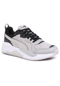Szare buty sportowe Puma na co dzień, z cholewką