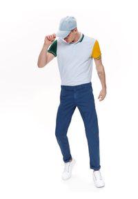 Niebieskie spodnie TOP SECRET casualowe, do pracy, w kolorowe wzory