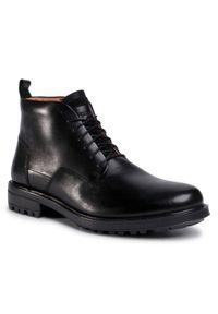 Czarne buty zimowe Gino Rossi z cholewką, eleganckie