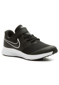 Nike - Buty NIKE - Star Runner 2 (Psv) AT1801 001 Black/White/Black Volt. Okazja: na uczelnię, na co dzień. Zapięcie: rzepy. Kolor: czarny. Materiał: skóra, materiał. Szerokość cholewki: normalna. Styl: casual