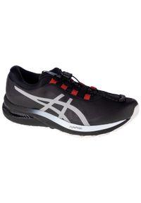 Czarne buty do biegania Asics z cholewką, w kolorowe wzory