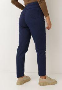 Born2be - Granatowe Spodnie Skinny Rodylyc. Kolor: niebieski