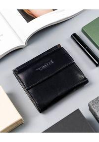 4U CAVALDI - Kwadratowy portfel damski czarny Cavaldi RD-16-GCL-6238 BLACK. Kolor: czarny. Materiał: skóra