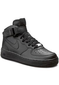 Czarne buty sportowe Nike z cholewką, na co dzień, Nike Air Force