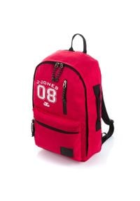 JENNIFER JONES - Plecak młodzieżowy na laptopa czerwony Jennifer Jones 4090-1. Kolor: czerwony. Materiał: materiał. Styl: młodzieżowy