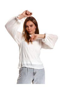 Biała bluzka TOP SECRET casualowa, długa, na co dzień