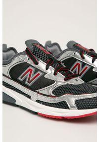Czarne sneakersy New Balance z cholewką, z okrągłym noskiem, na sznurówki