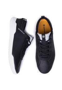 CATerpillar - Półbuty CATERPILLAR - Hex P724185 Black/White. Okazja: na co dzień. Kolor: czarny. Materiał: skóra, materiał. Szerokość cholewki: normalna. Styl: elegancki, sportowy, casual