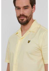 Lyle & Scott - Koszula bawełniana. Okazja: na co dzień. Kolor: żółty. Materiał: bawełna. Styl: casual