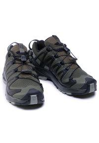 Zielone buty trekkingowe salomon
