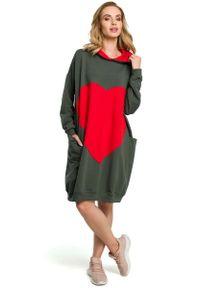 Zielona sukienka MOE sportowa, sportowa