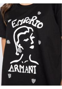 Emporio Armani T-Shirt 3H2T7Q 2J95Z 0999 Czarny Regular Fit. Kolor: czarny