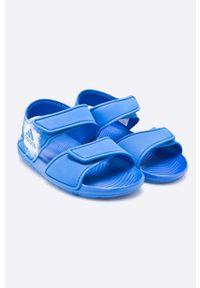 Niebieskie sandały adidas Performance na rzepy #5
