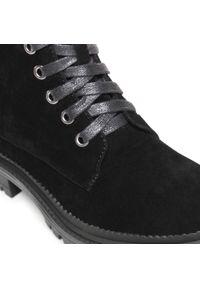 Czarne buty trekkingowe Xti z cholewką