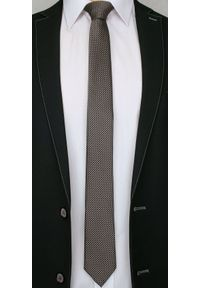 Beżowy krawat Alties elegancki