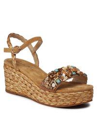Brązowe sandały Alma En Pena